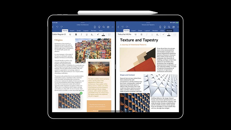 支持多窗口模式 微软正测试iPadOS版Word和PPT的照片
