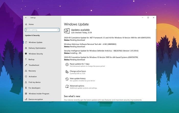 微软发布Win10 KB4556799五月累积更新的照片 - 2