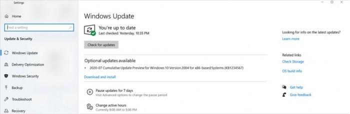 微软宣布7月恢复Windows10可选更新的发布工作