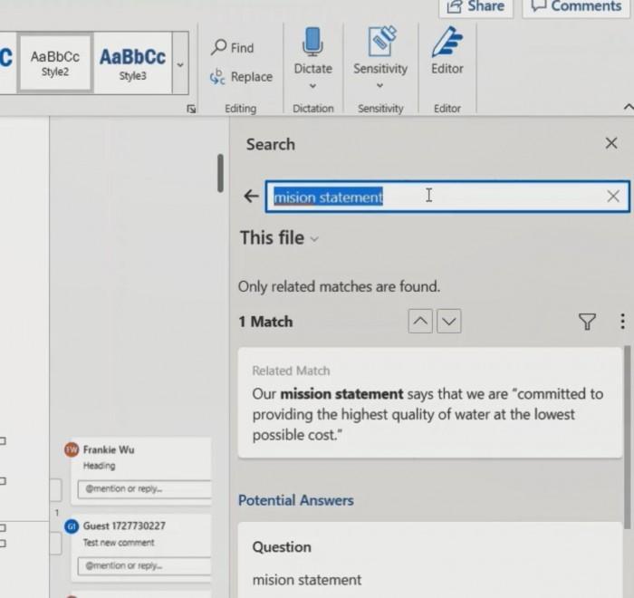 微软Word内置搜索功能正快速演变的照片 - 2
