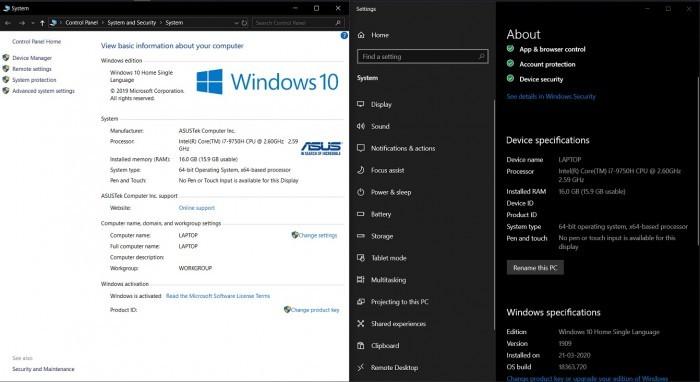 Windows10升级将控制面板系统小程序