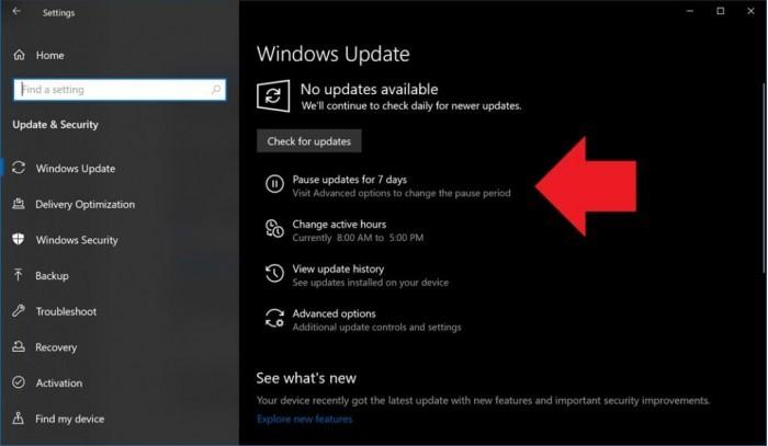 """微软:Windows10用户现可暂停""""意外更新"""""""