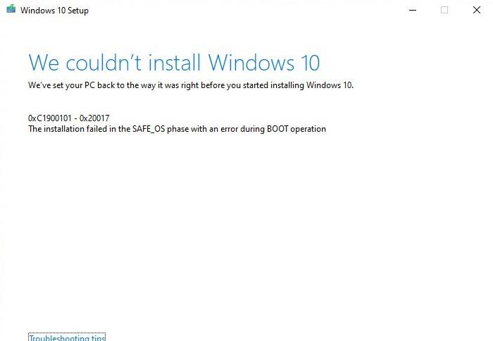 用户抱怨无法通过媒体创建工具升级至Windows10 2020年5月更新