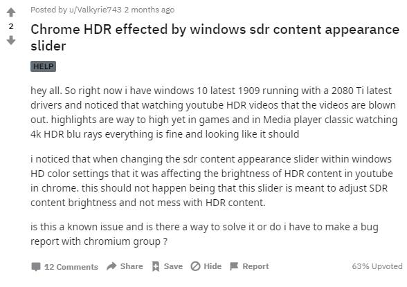Chrome遭遇无法在Win10上正常播放HDR视频的bug的照片 - 4