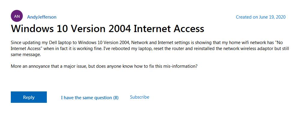 """微软已修复Win10""""无网络连接""""问题 已在Dev频道测试的照片 - 2"""