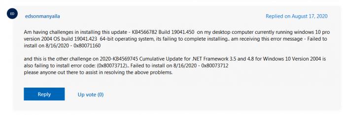 本月Win10累积更新再出BUG:安装时跳出错误代码的照片 - 3