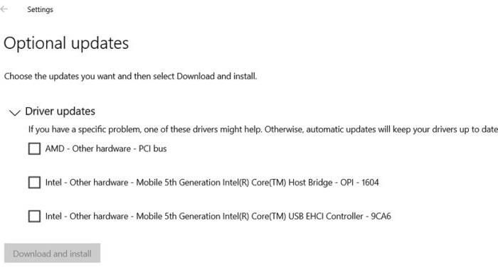 Win10已允许用户获取可选的驱动和系统更新的照片 - 2