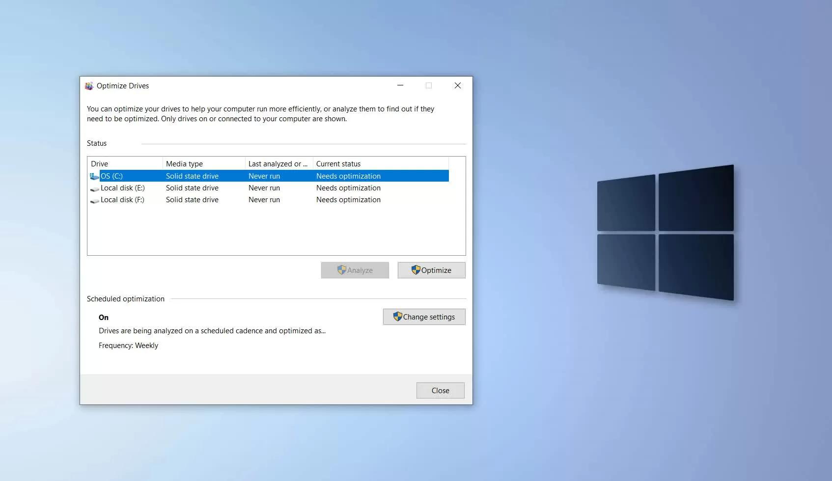 微软正在准备修复一个影响SSD寿命的Win10错误的照片