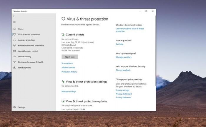 微软解释为何不再支持修改注册表来禁用Defender的照片 - 2