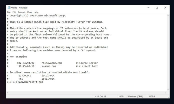 微软将修改HOSTS屏蔽Win10遥测数据视作一个严重的安全风险的照片 - 2