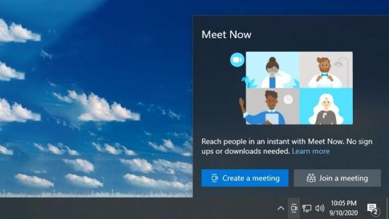 """没有微软账号也能视频聊天 Win10新增""""Meet Now""""功能的照片 - 1"""