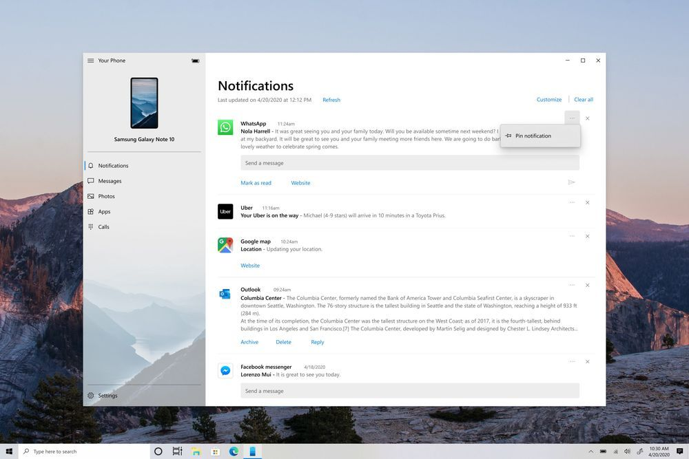 Win10 Build 20221发布:Your Phone通知可置顶的照片 - 5