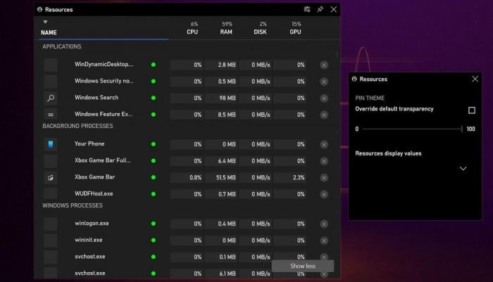 专为玩家优化的Win10任务管理器上线:不离开游戏管控进程的照片 - 3