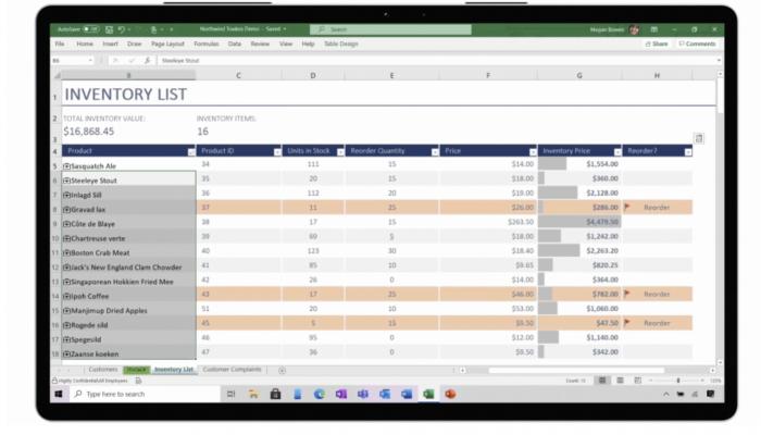 微软对Excel进行了全面的改革 推出了实时自定义数据类型的照片 - 3
