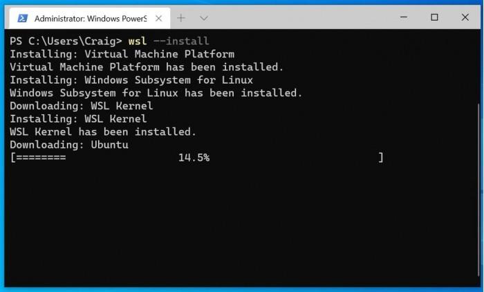 Win10优化WSL设置:可自动安装Linux发行版本