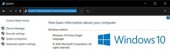 如何在Win10 20H2上访问控制面板系统等经典页面的照片 - 2
