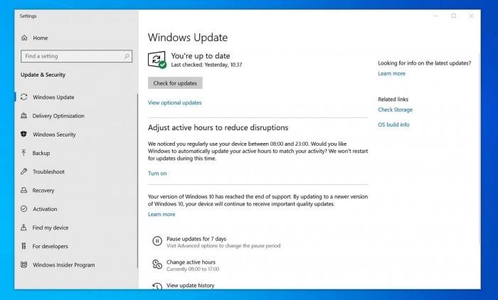 微软开始强制升级用户的Win10 1903到1909版本的照片 - 3