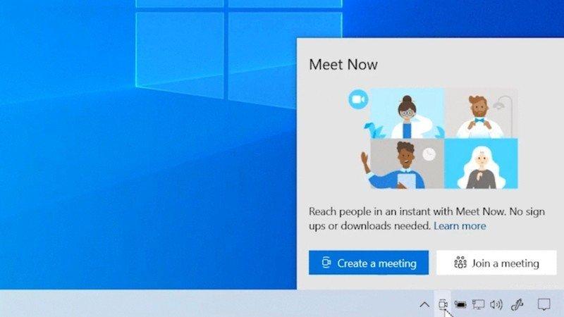 Win10邀请更多用户体验Meet Now视频聊天功能的照片
