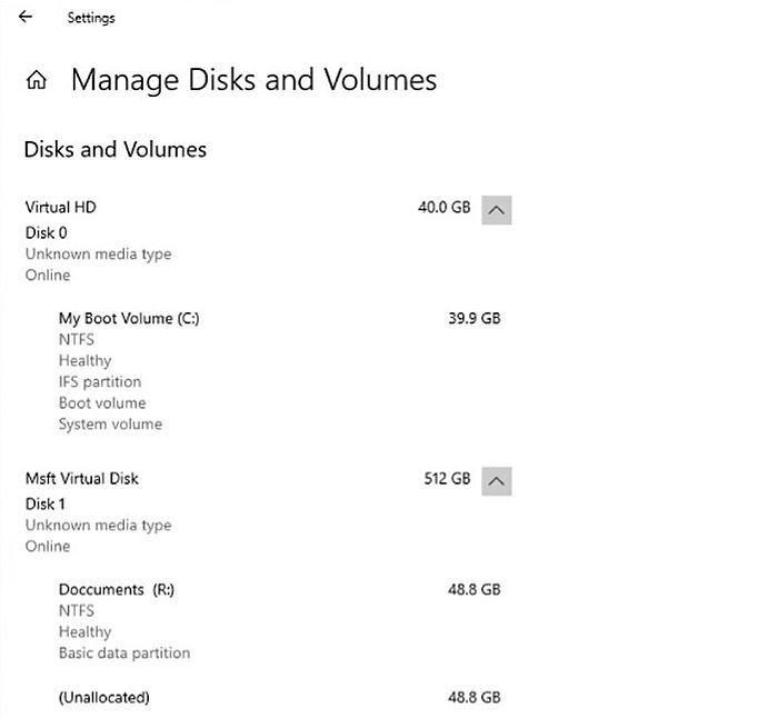 微软解释为何设置应用中现代化的新磁盘管理工具更优秀的照片 - 3