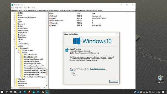 微软测试Win10 20H2更新 版本号升至Build 19042.662的照片 - 2