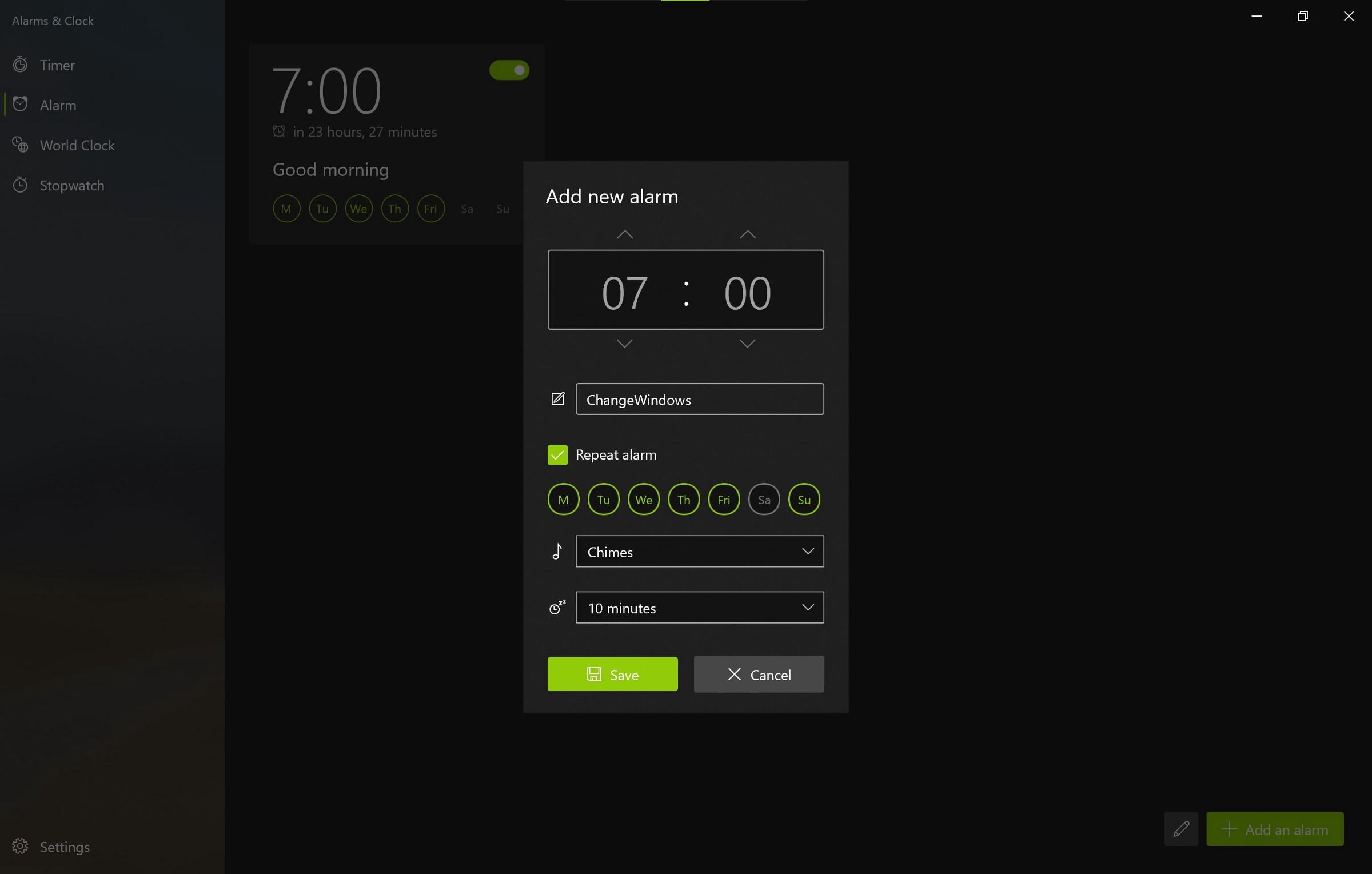 微软为Win10上的闹钟和时钟应用提供重大更新的照片 - 6