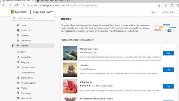 微软为Edge浏览器发布24款精美主题的照片 - 3