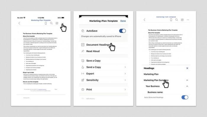 微软优化移动端Office体验:浏览长文档时可快速定位章节