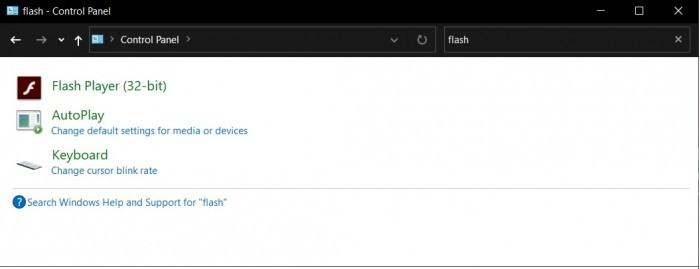 Win10下一次更新将永久停止Adobe Flash Player的运行的照片 - 2