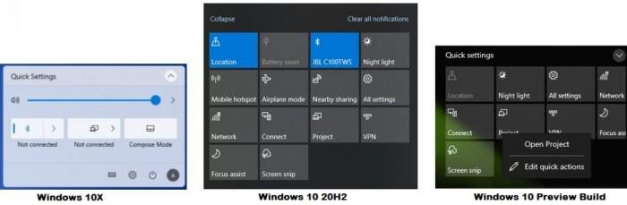 Win10操作中心设计即将升级:融入Win10X元素的照片 - 3