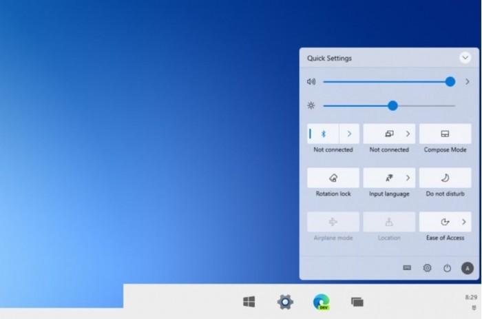 Win10操作中心设计即将升级:融入Win10X元素的照片 - 1
