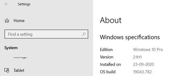 Win10将迎来Build 19043 21H1功能更新的照片 - 2