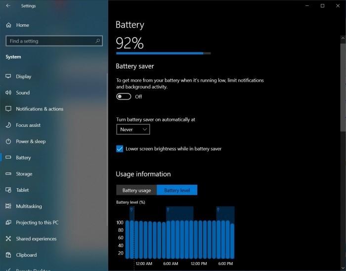 微软为Win10开发新电池设置:将于今年下半年抵达的照片 - 2