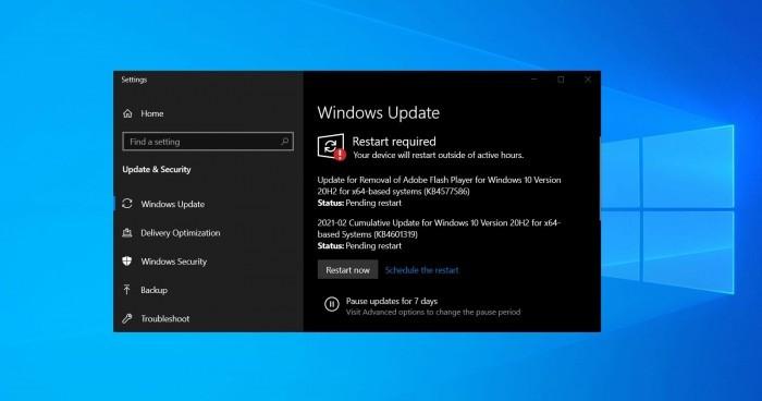 Win10 KB4577586更新推出 将删除Flash Player的照片 - 2