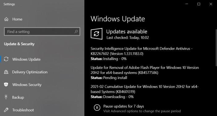 Win10 KB4577586更新推出 将删除Flash Player的照片 - 4