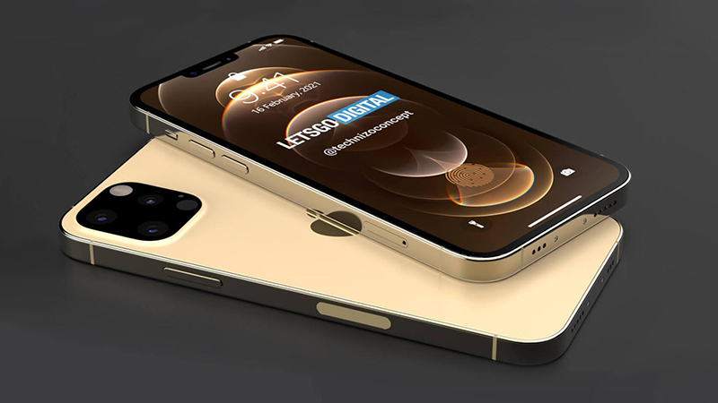 iPhone 13 Pro渲染图曝光:刘海显著缩小、充电口也没了的照片 - 1
