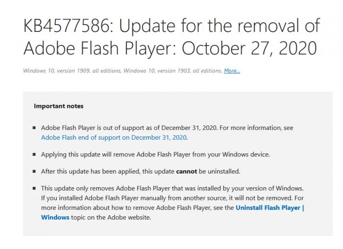 """微软悄然推出""""杀手补丁"""":彻底封杀Flash Player的照片 - 3"""