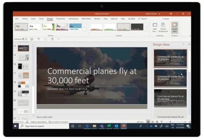 网页端Word新功能: 可将文档转换为PowerPoint演示文稿的照片 - 2