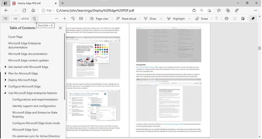 微软更新Edge浏览器PDF阅读器路线图:计划引入视图恢复等功能的照片 - 2