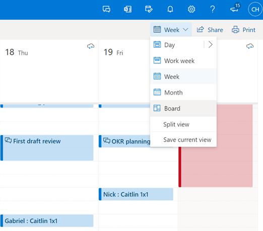 微软Outlook线上版和移动应用都将获得新的日历外观的照片 - 2