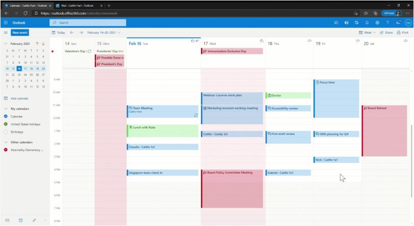 微软Outlook线上版和移动应用都将获得新的日历外观的照片 - 3