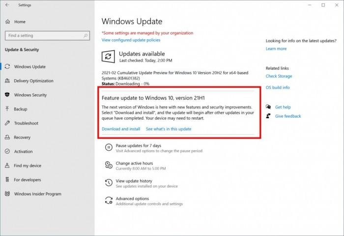 微软面向Beta频道开放Win10 21H1 Build 19043.844更新的照片 - 2
