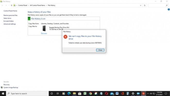Win10更新导致部分用户的File History瘫痪的照片 - 4