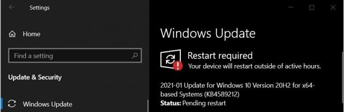 微软再推英特尔微代码更新KB4589212 AMD设备还无法跳过的照片 - 2