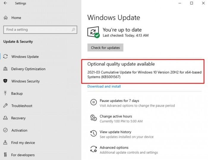 微软发布Win10可选质量更新:修复打印蓝屏问题的照片 - 2
