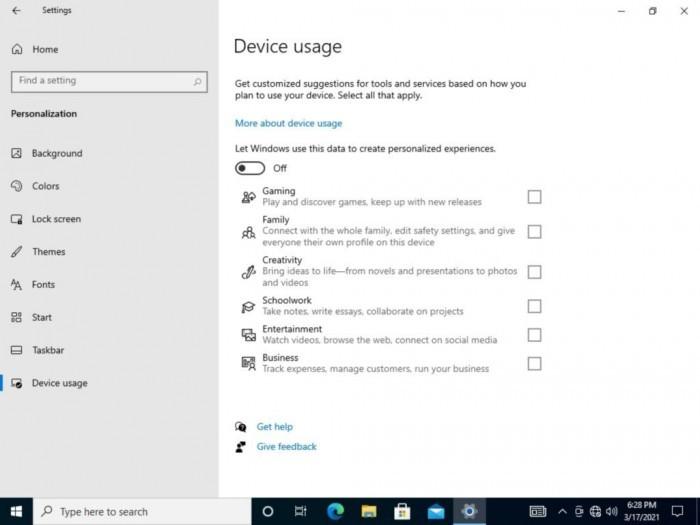 """Win10测试""""设备使用""""功能:可让用户指定电脑用途的照片 - 2"""