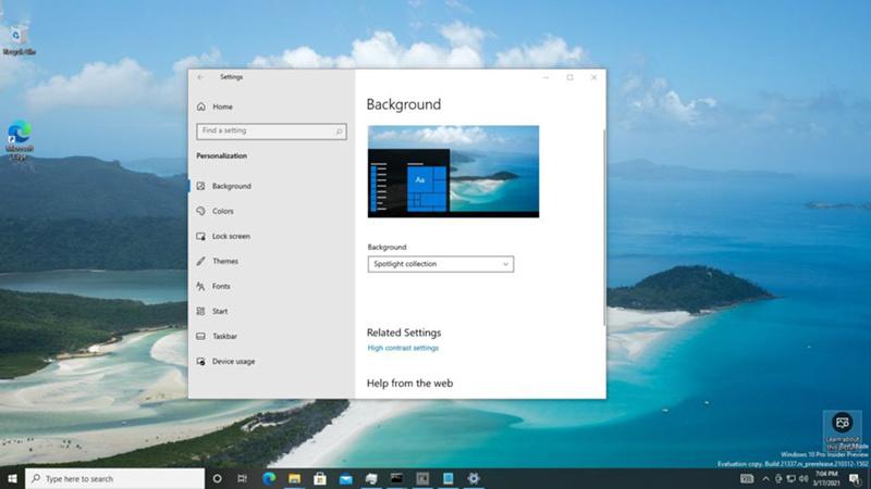 Win10 21H2最新预览版隐藏三项新功能:优化触控键盘等的照片 - 1