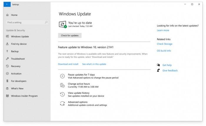 微软已向商业客户交付Win10 21H1功能更新 用于预发布测试的照片 - 2