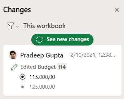 网页端Excel新功能:追踪过去60天同事对工作簿的所有更改的照片 - 8