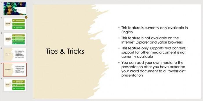 Word新增AI功能:可导出专业的PowerPoint演示文稿的照片 - 3