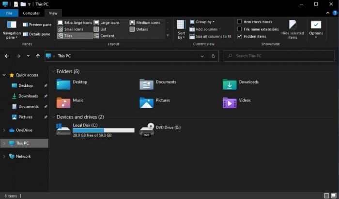 Win10 21H1文件资源管理器新版触摸UI与图标抢先看的照片 - 6